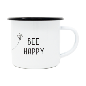 Made in the USA, Mug, Coffee, Tea, Enamel, Steel, Bee