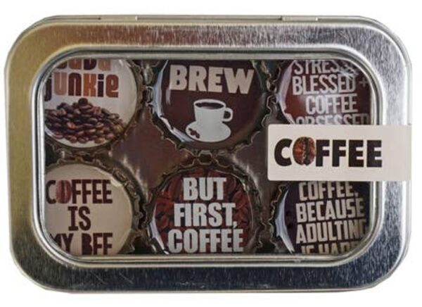 Made in the USA, Recycled materials, Magnets, Coffee, Tea