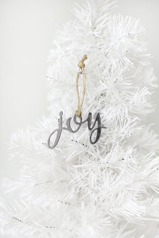 Made in the USA, Christmas Ornament, Joy, Steel
