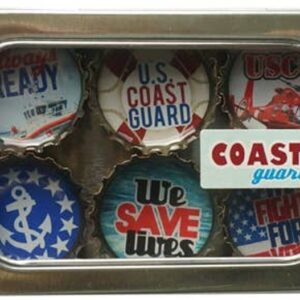Made in the USA, Recycled materials, Magnets, Coast Guard, Military