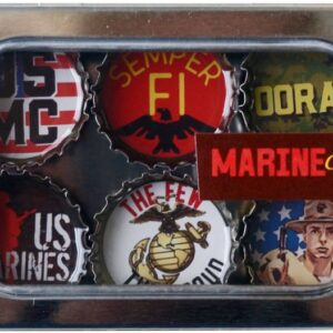 Made in the USA, Recycled materials, Magnets, Marine Corp, Military