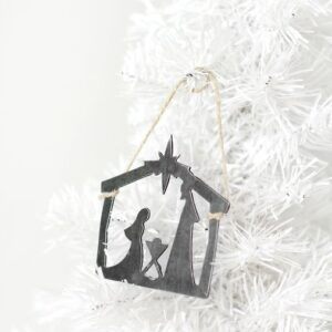 Made in the USA, Steel, Ornament, Nativity, Christmas, Holiday