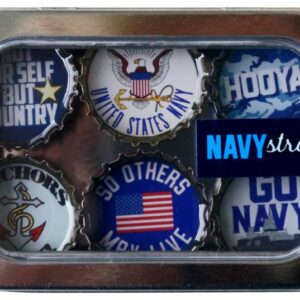 Made in the USA, Recycled materials, Magnets, Navy, Military