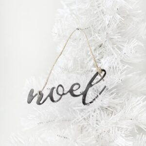 Made in the USA, Steel, Ornament, Noel, Christmas, Holiday